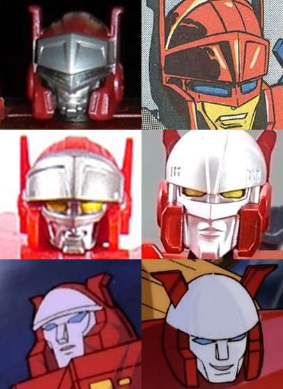 Blaster Generation one toy face cartoon model KFC Blaster titans return face comparison.jpg